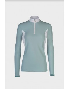Ladies Jersey Polo Perforated Inserts Cavalleria Toscana