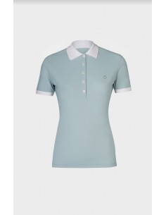 Perforated Jersey Polo with side zip pocket Cavalleria Toscana donna