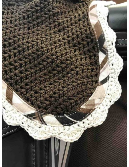 Showjumping saddle pad + earnet RG Brown
