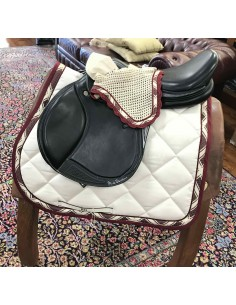 Showjumping Saddle pad + earnet RG cream/bordeaux