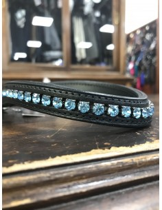 Browbands black and Swarovski Otto Schumacher