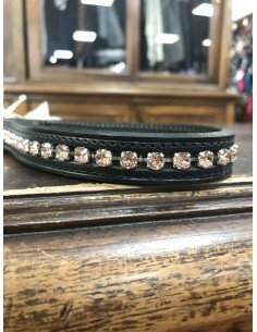 Browbands black and red Swarovski Otto Schumacher