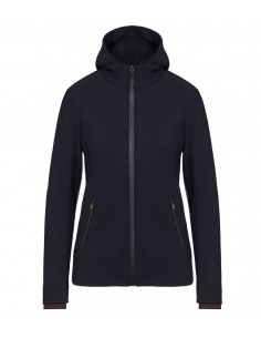 Felpa Tecnica Cavalleria Toscana donna Jersey and knit hooded zip