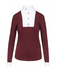 Ladies CT  Jersey competition Shirt With Tiny Ruffled Collar