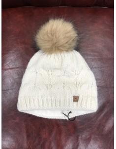 Wool cap Pikeur fur pom pom