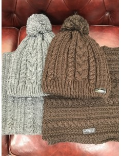 Wool cap + neck warmer Pikeur braided