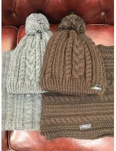 Wool cap + neck warmer Pikeur braided