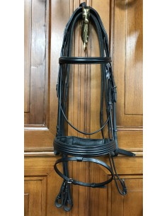Equiline decorated noseband bridle stock with reins
