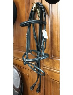 Equiline bridle stock with rubber reins