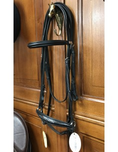 Equipe bridle with Hanoverian noseband + reins