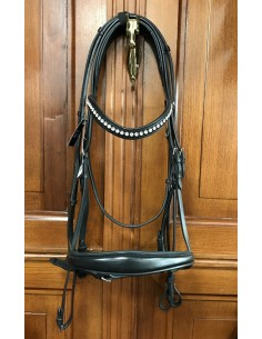 Equiline stock dressage bridle with reins