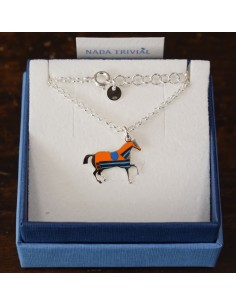 NADA TRIVIAL NECKLACE ENAMELED HORSE