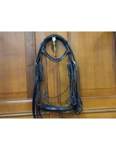 DOUBLE BRIDLE WITH REINS...