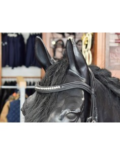 BRIDLE STOCK WITH CRYSTALS